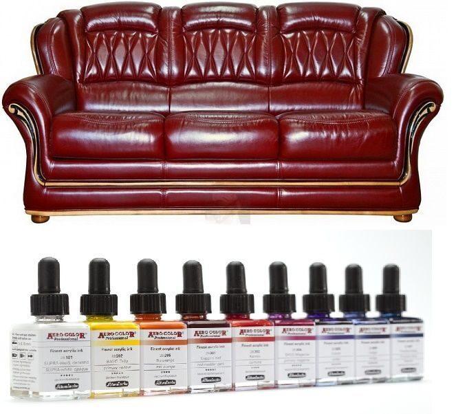 Краска для кожаной мебели купить